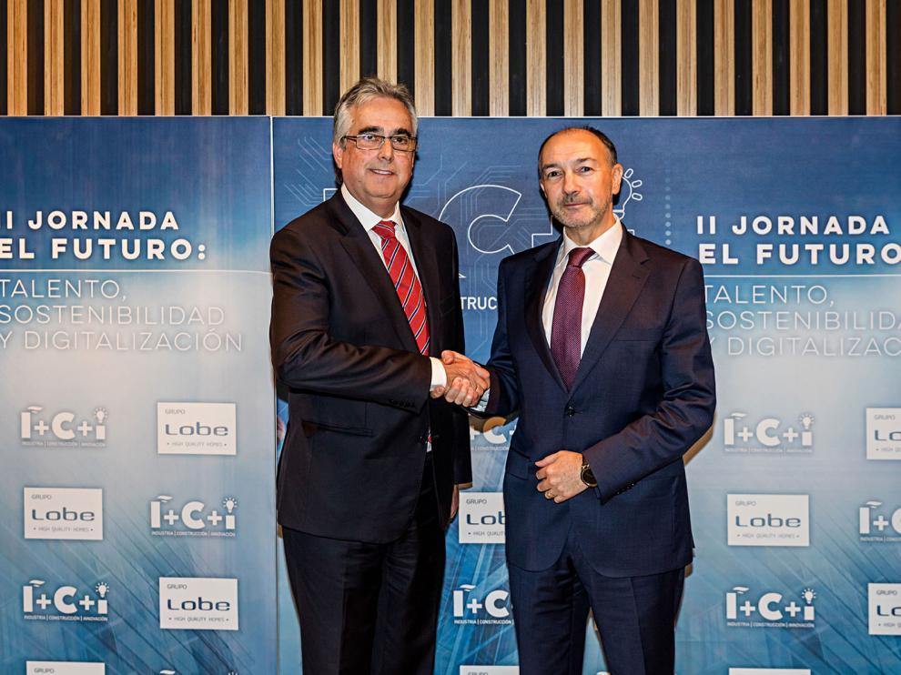 Juan Carlos Bandrés, Grupo LOBE, y Fernando Beltrán, Gobierno de Aragón.