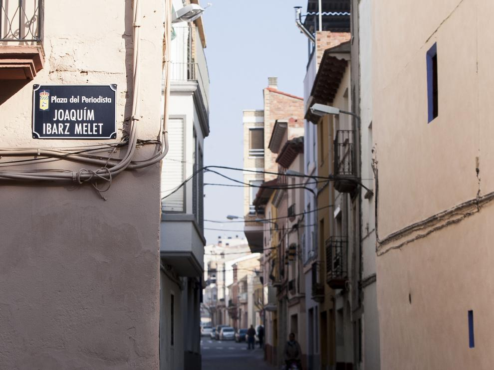 Calle de Joaquín Ibarz en Zaidín.