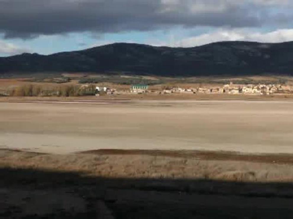 Esta es la imagen de la laguna de Gallocanta por la sequía