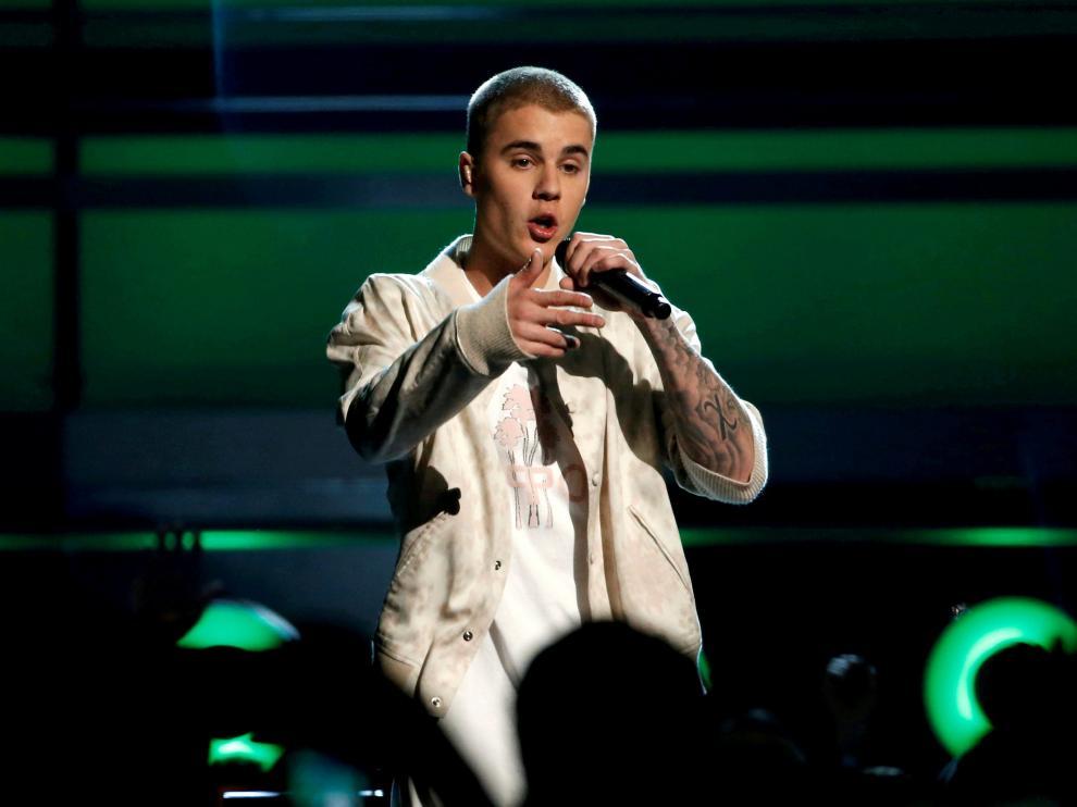 El cantante canadiense Justin Bieber.
