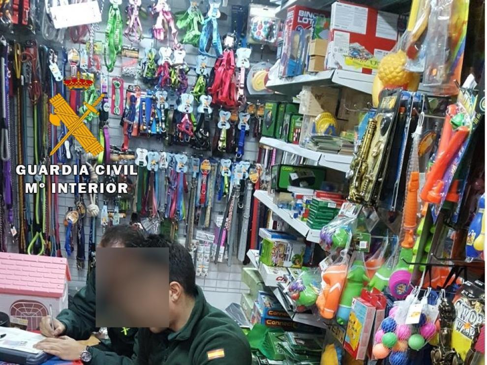 Una de las inspecciones realizadas por la Guardia Civil.