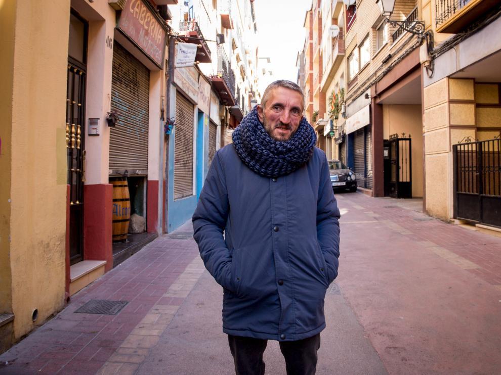Amador Fernández, ayer en la calle del Heroísmo de Zaragoza.