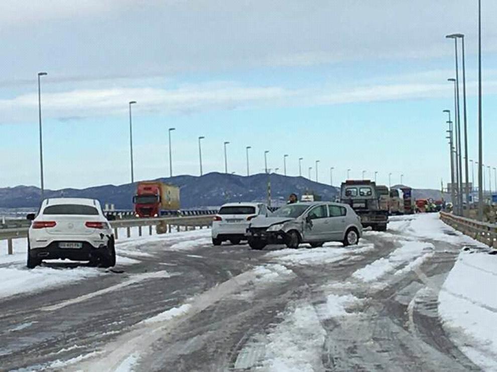Los vehículos quedaron bloqueados en la autovía A-23