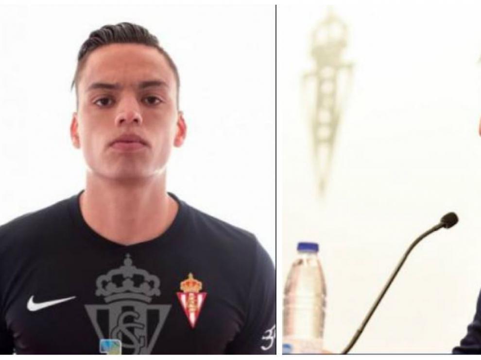 Óscar Whalley y Paco Herrera, ahora en el Sporting de Gijón.