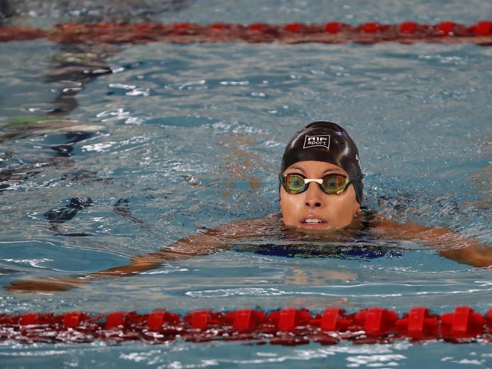 Teresa Perales, durante la competición
