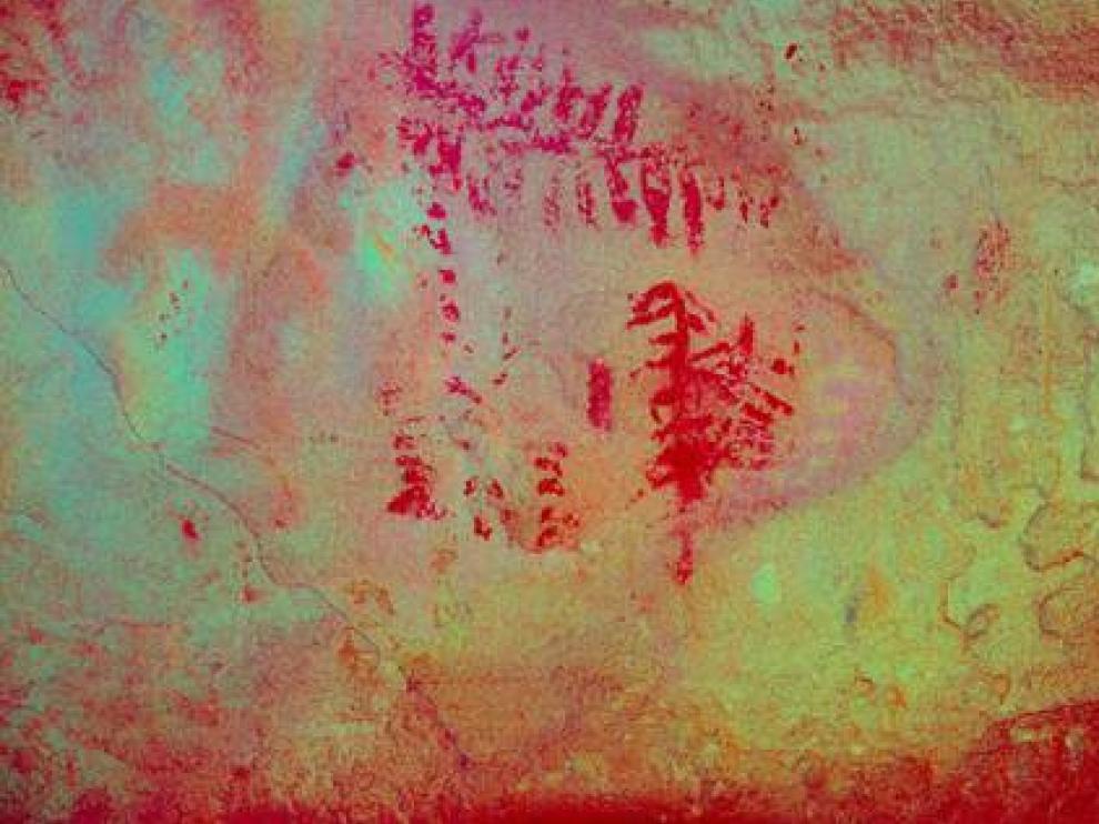 Pinturas halladas en el refugio de Mas del Obispo