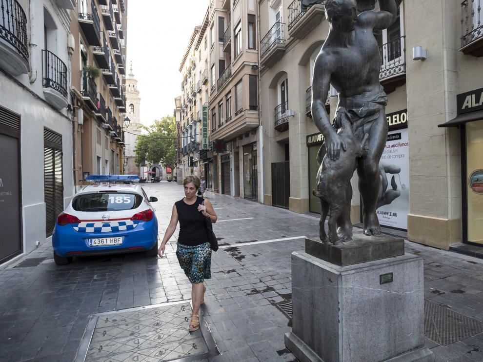 Uno de los robos denunciados en agosto se cometió en la calle de Candalija, en el centro de Zaragoza.