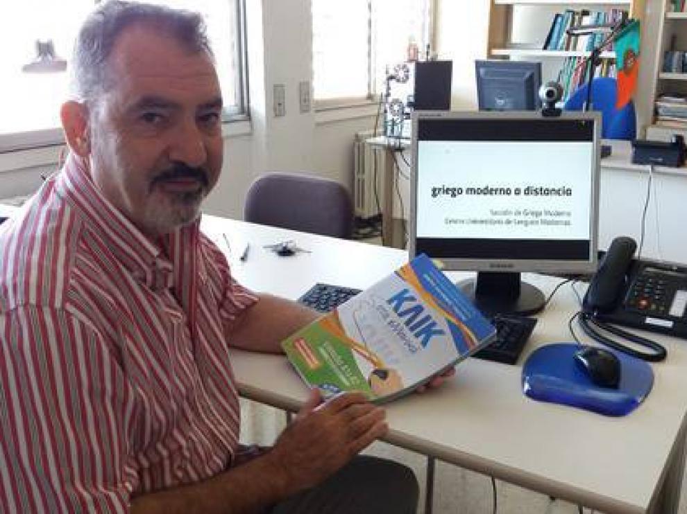 Manuel Giatsidis, coordinador de la Sección de Griego del Centro Universitario de Lenguas Modernas de la UZ
