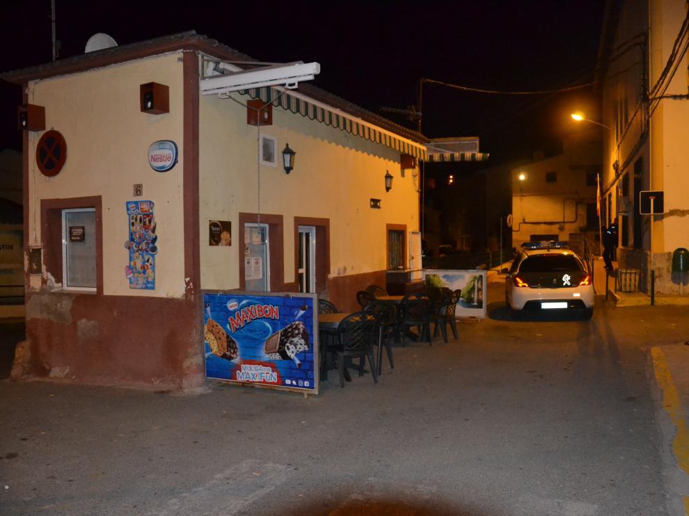 Imagen del cuartel de la Guardia Civil de Albalate, a donde acudieron los heridos por sus propios medios.