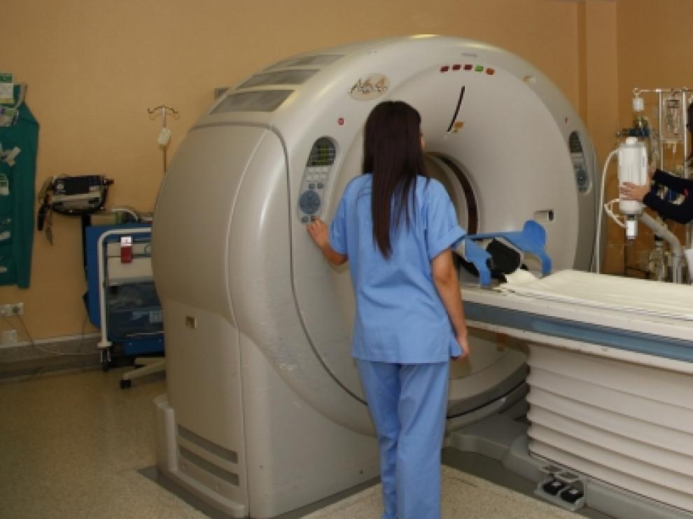 El escáner del servicio de urgencias del Hospital Miguel Servet.