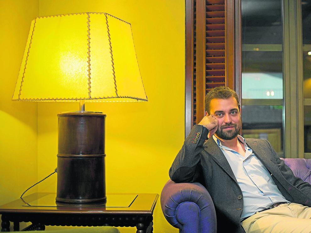 El psicólogo David Ramírez, en el hotel Palafox durante su reciente visita a Zaragoza.