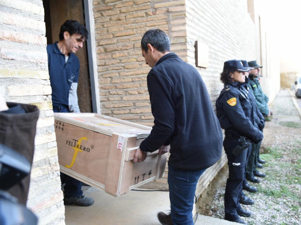 Los 43 bienes llegan a Sijena