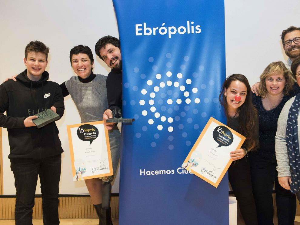 Imagen de los Premios Ebrópolis celebrados este lunes en la sede de Ibercaja.
