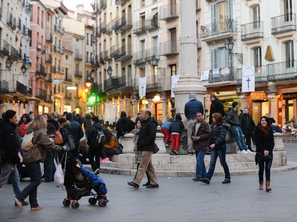 Plaza del Torico en Teruel.