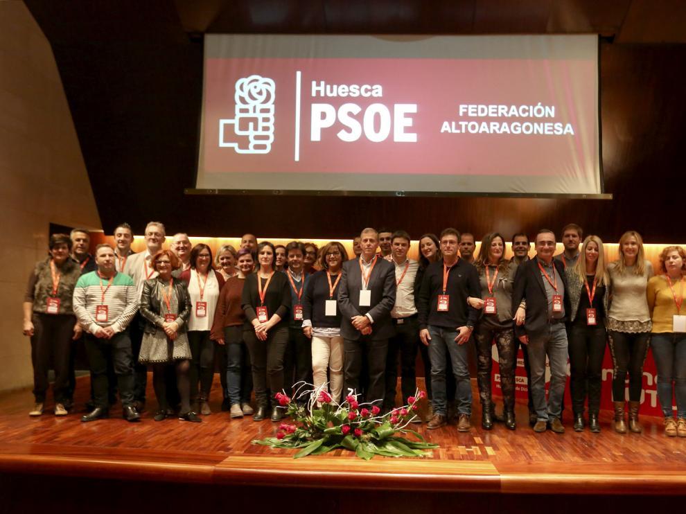 La nueva Ejecutiva Provincial del PSOE del Alto Aragón tras el congreso