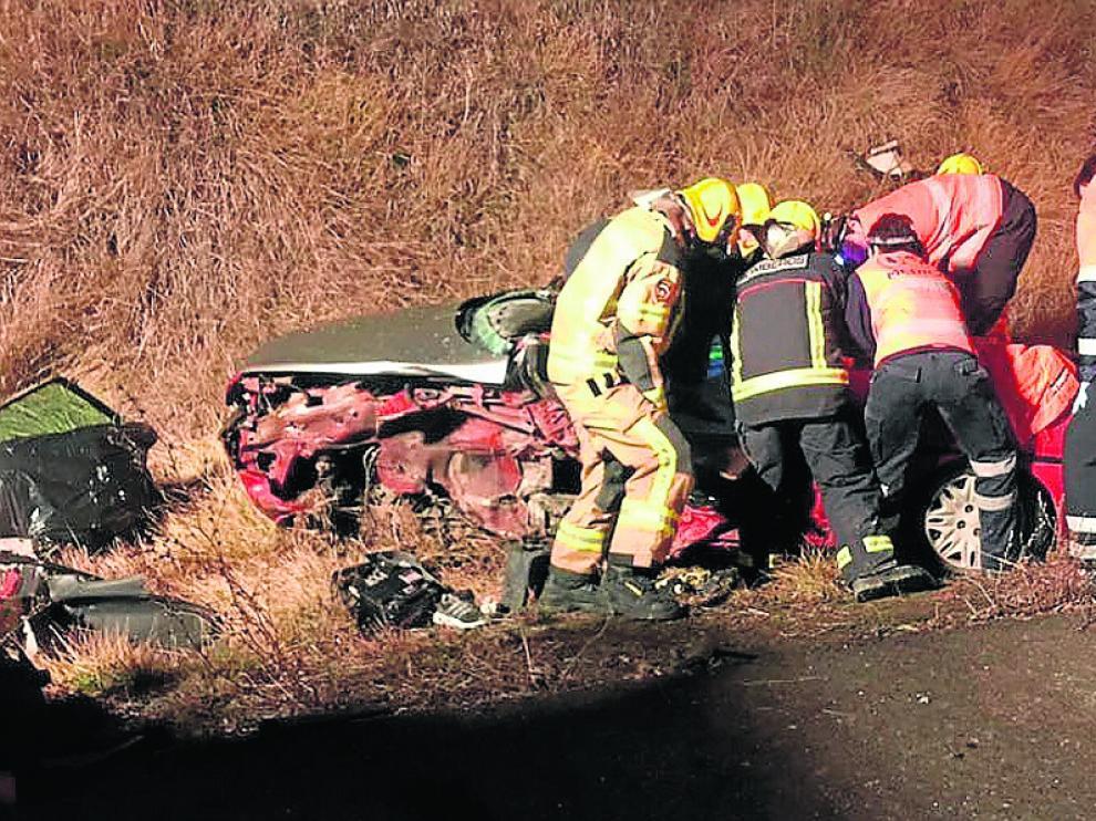 Accidente en el kilómetro 514 de la carretera N-260a, a la altura de Senegüé