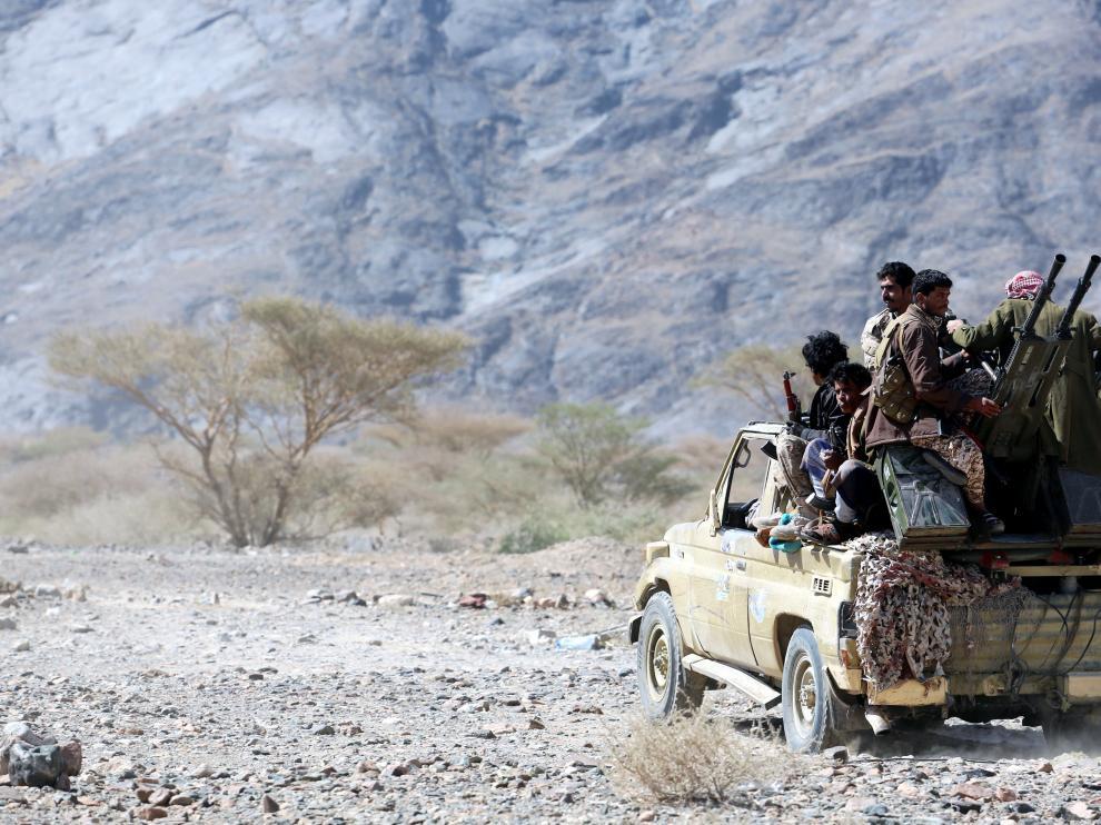 Soldados a favor del gobierno de Yemen
