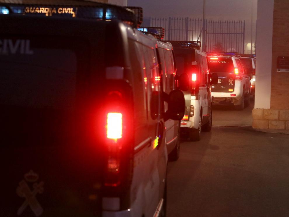 Varios furgones trasladan a Norbert Feher, también conocido como 'Igor el Ruso'