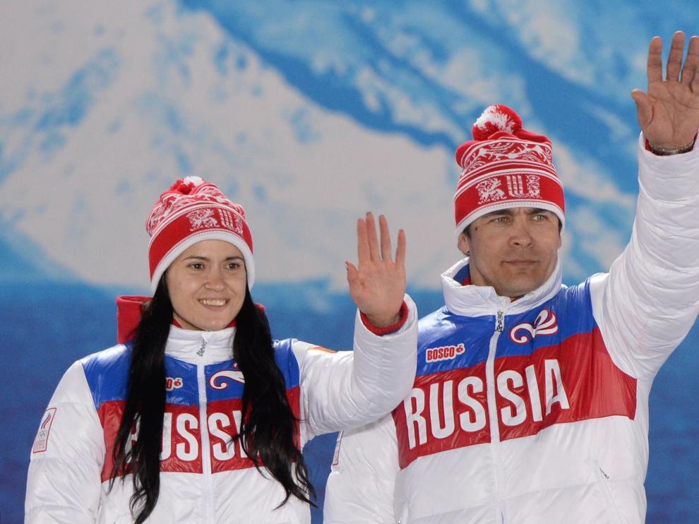 Tatyana Ivanova y Albert Demchenko, dos de los atletas sancionados.