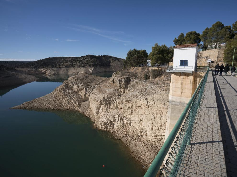 El nivel del pantano del Arquillo es el más bajo desde 1995.