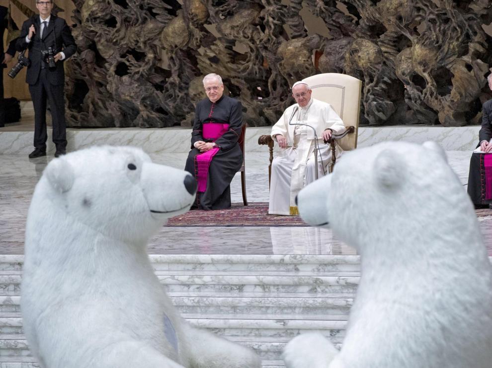 El Papa este miércoles en el Vaticano, donde ha habido una actuación