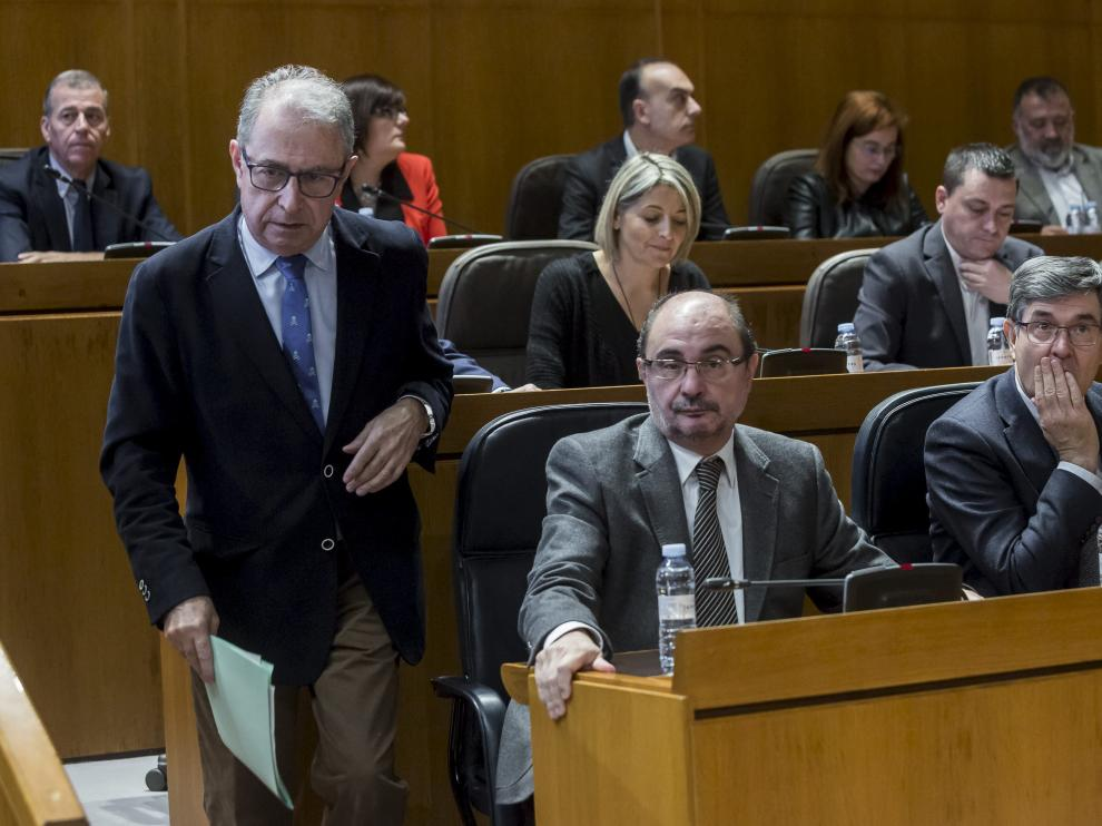 Gimeno, ayer durante el pleno en el que se aprobó el techo de gasto para 2018.