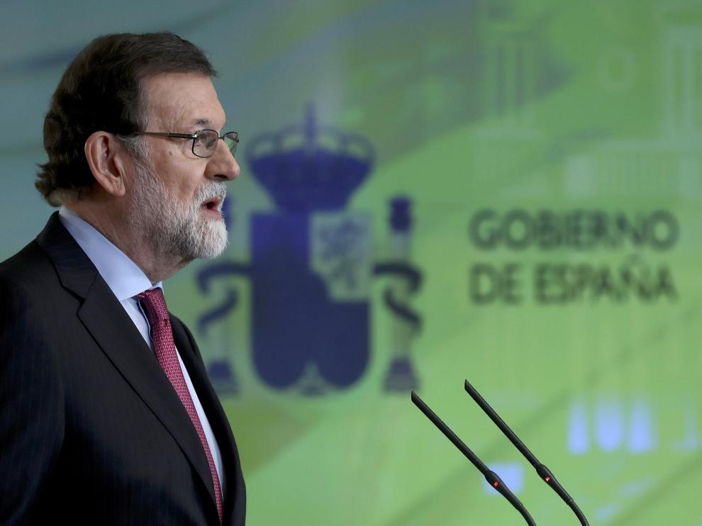 Mariano Rajoy en rueda de prensa tras el Consejo de Ministros de este viernes.