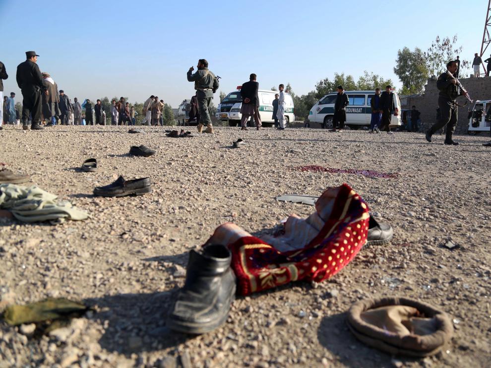 Lugar donde se produjo este domingo un atentado durante un funeral en Afganistán