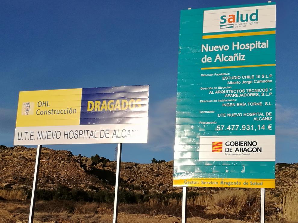 Zona donde se construye el hospital de Alcañiz