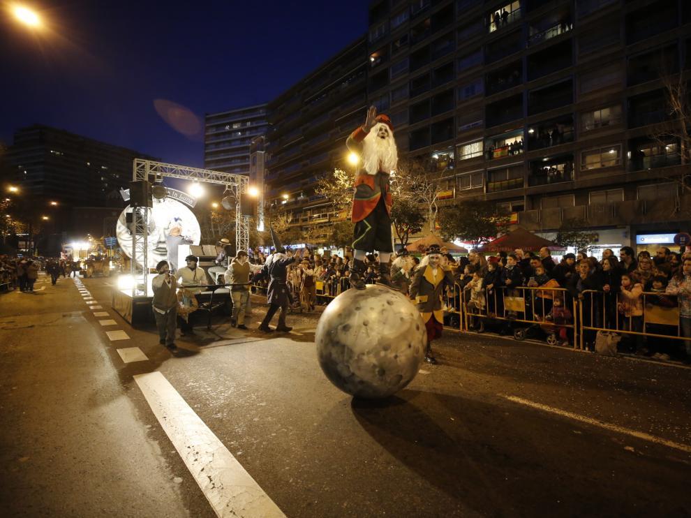 Cabalgata de Reyes Magos en Zaragoza en el 2018.