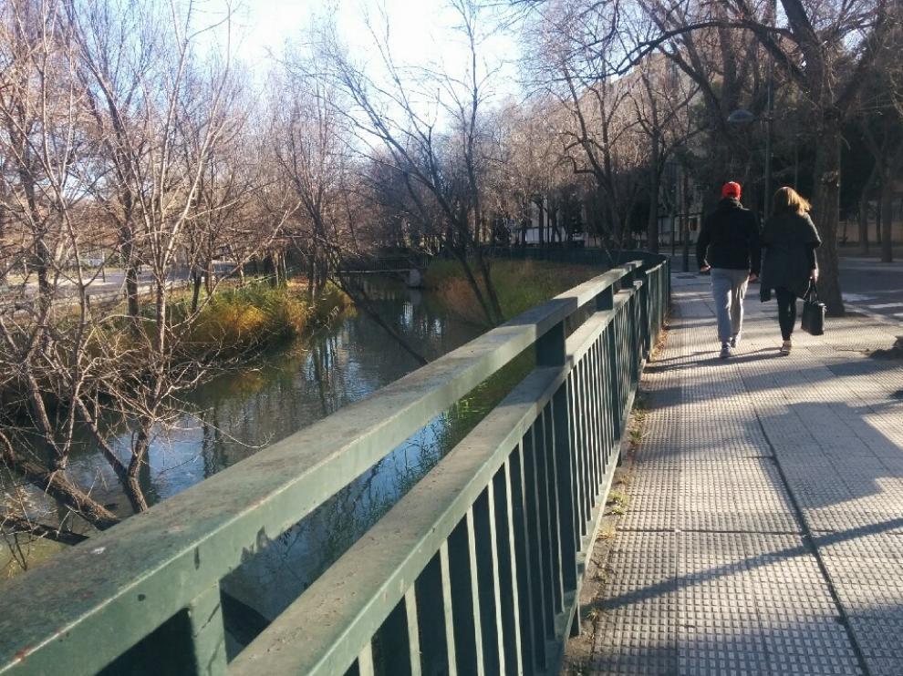 El paseo de Tierno Galván donde se aprecia el estado de las aceras que están levantadas.