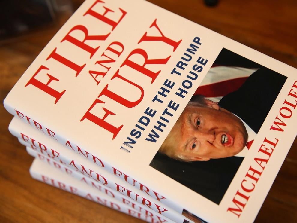 Imagen de 'Fuego y Furia', que ya se encuentra agotado en numerosos establecimientos.