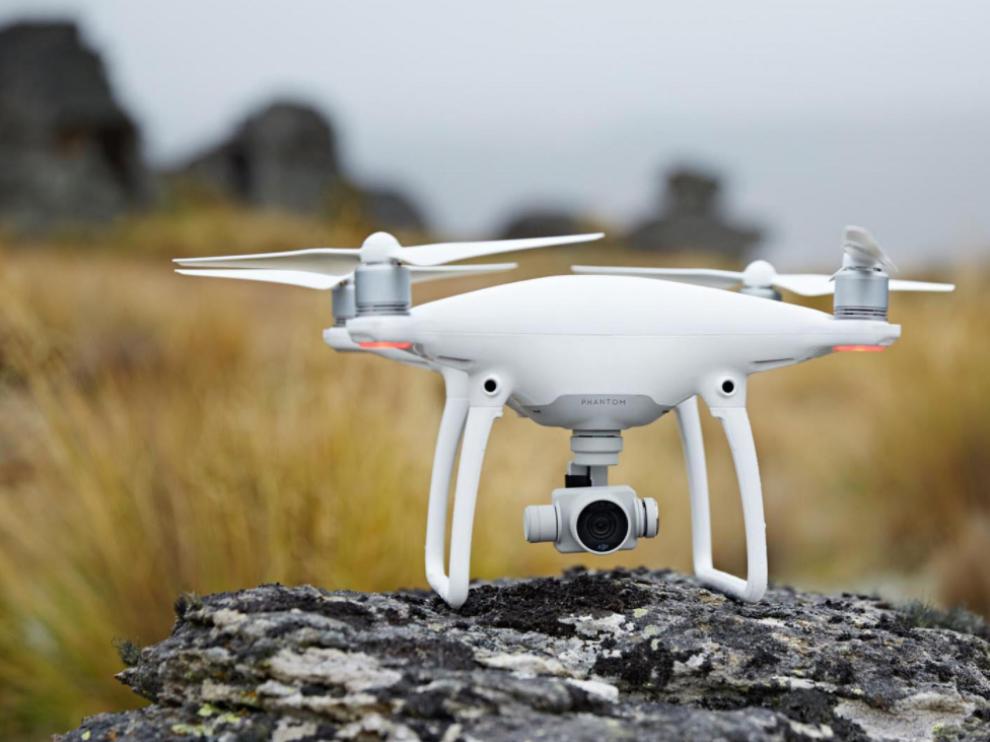 En la recreación se usaron drones