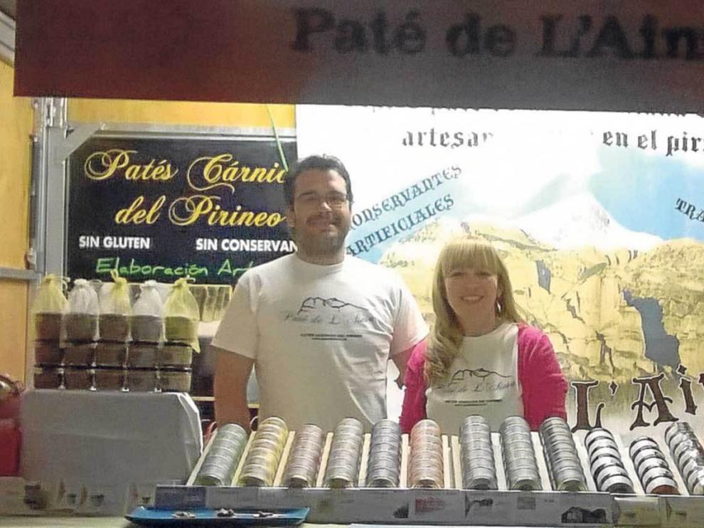 Cristian Hernández y su mujer Rosa Gómez, de la empresa Paté de L'Ainsa.