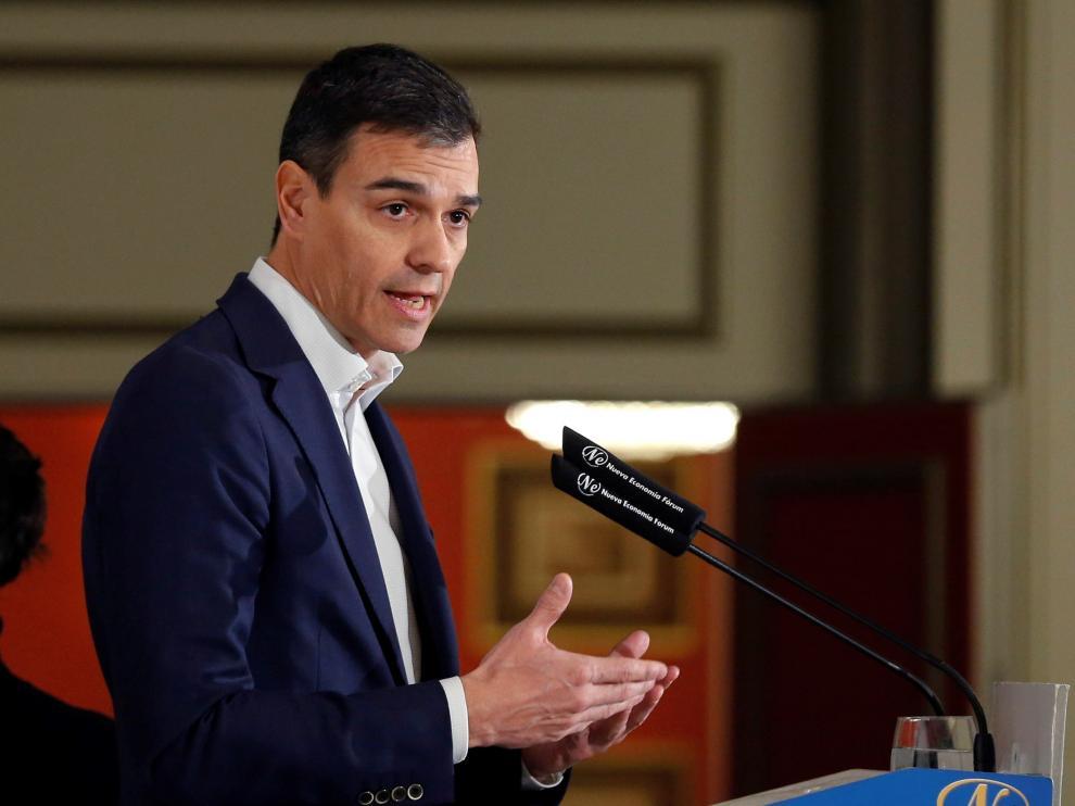 Pedro Sánchez este martes en Madrid.