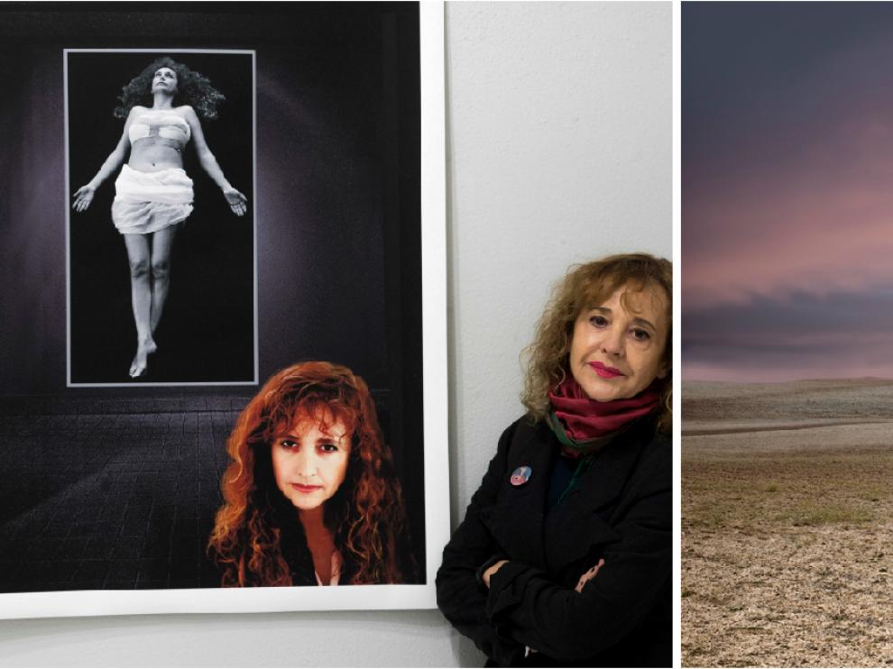 Pilar Albajar es la creadora de imágenes y quien dispara la cámara. Antonio Altarriba es el guionista. Aquí una de sus fotos del cáncer de pecho de Pilar y la foto favorita de los dos: la metamoforsis de hombre y tronco.