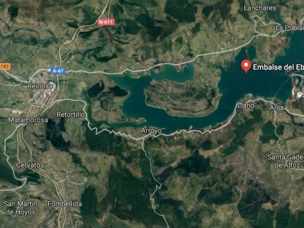 Embalse del Ebro al sur de Cantabria
