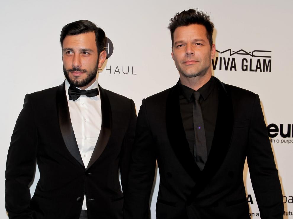 Ricky Martin junto a su marido, Jwan Yosef.