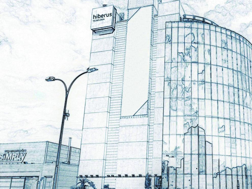 Recreación del edificio del paseo de Isabel la Católica en el que concentrará todas sus oficinas Hiberus Tecnología en Zaragoza.