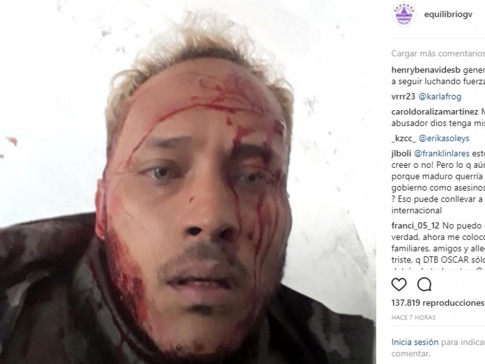 Oscar Pérezretransmite por Instagram su intento de detención