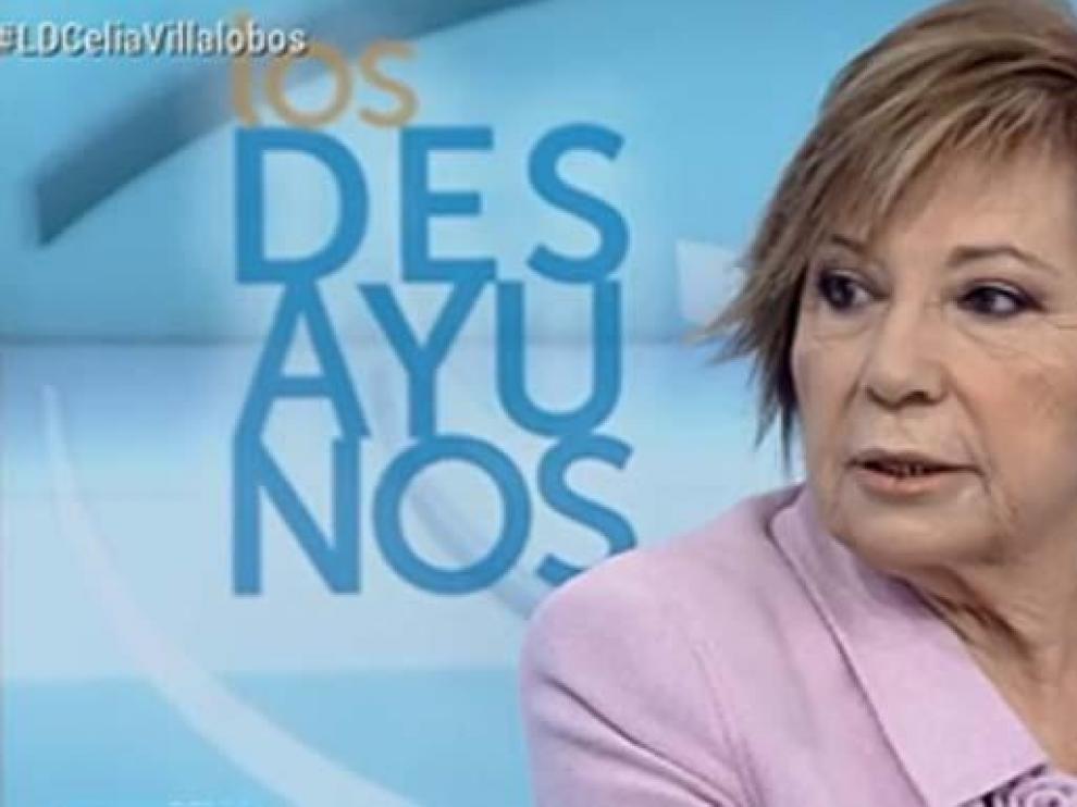 Celia Villalobos durante la entrevista de este martes.