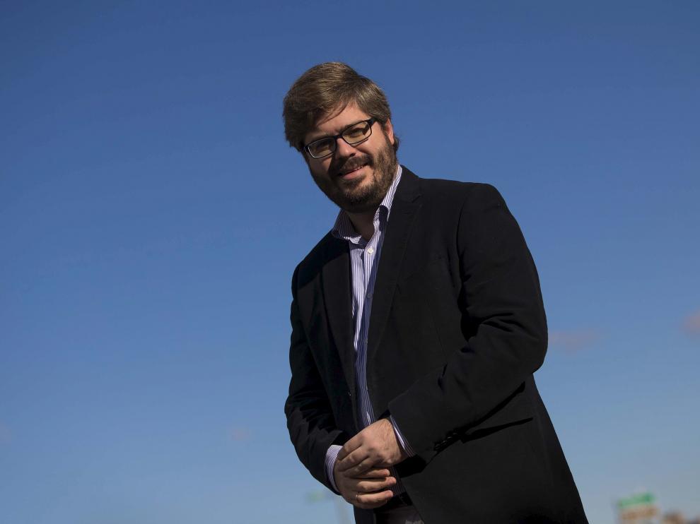 El secretario de Organización de Ciudadanos, Fran Hervías, en Zaragoza, el pasado viernes.