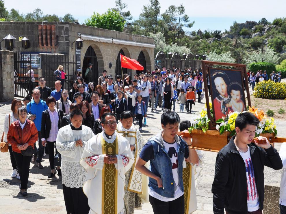 Jornada con inmigrantes chinos en Torreciudad el pasado mes de mayo