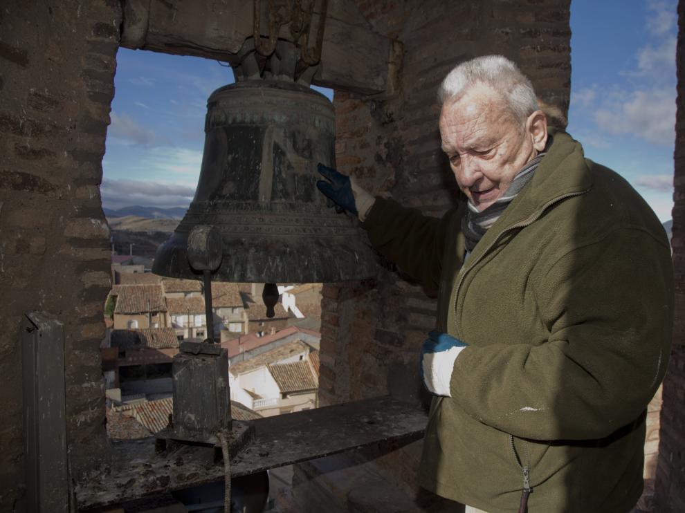 A sus 73 años, José Antonio Marca lleva ya seis décadas ejerciendo las funciones de campanero.