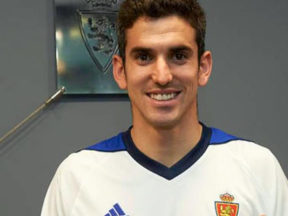 Jesús Alfaro, el pasado miércoles tras firmar con el Real Zaragoza.