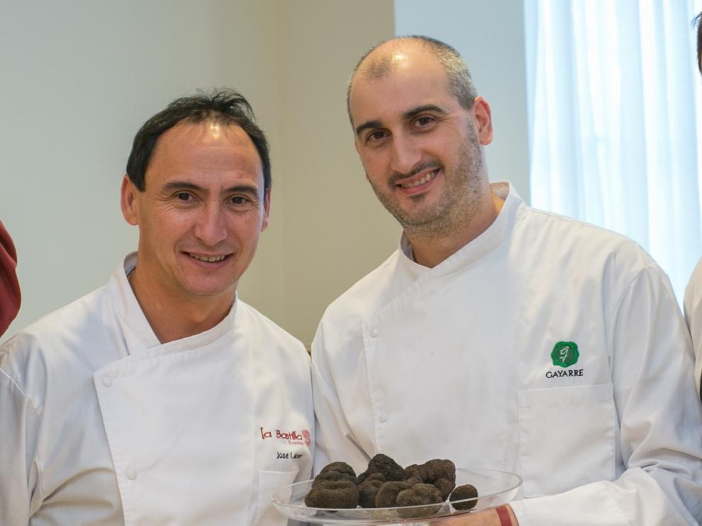 José Ignacio Acirón, chef ejecutivo del Grupo La Bastilla, y Leandro Casas, chef del restaurante Gayarre, hablarán sobre la trufa aragonesa en Madrid Fusión.
