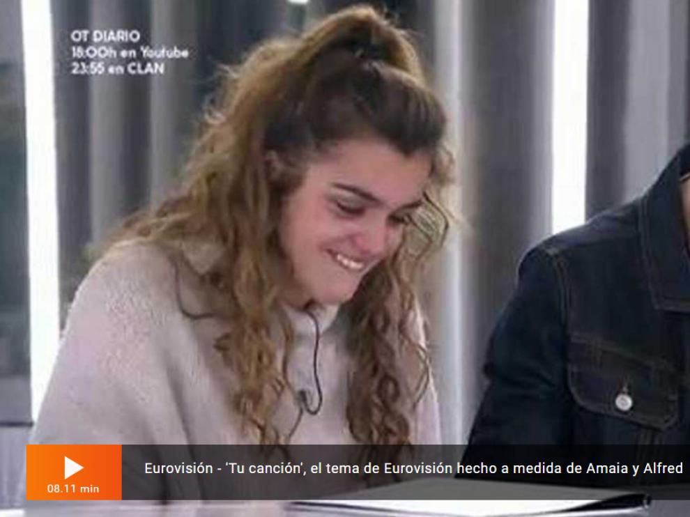 Alfred y Amaia ensayan 'Tu canción' por primera vez