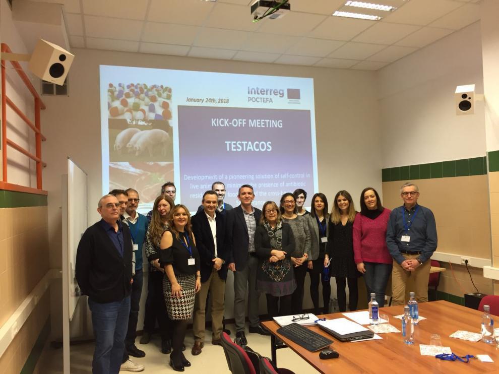 La reunión del lanzamiento del proyecto con todos los representantes de las diferentes entidades que participan