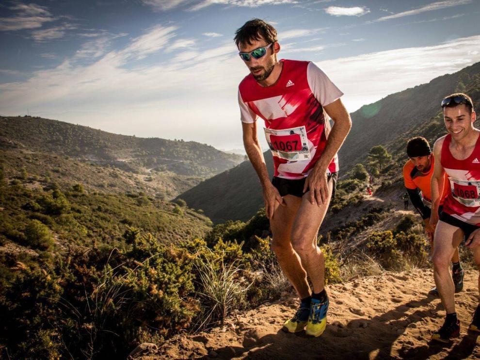 Luis Alberto Hernando, burgalés afincado en Jaca, en una de sus últimas carreras por montaña.