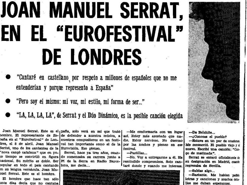 Entrevista publicada en HERALDO en enero de 1968.